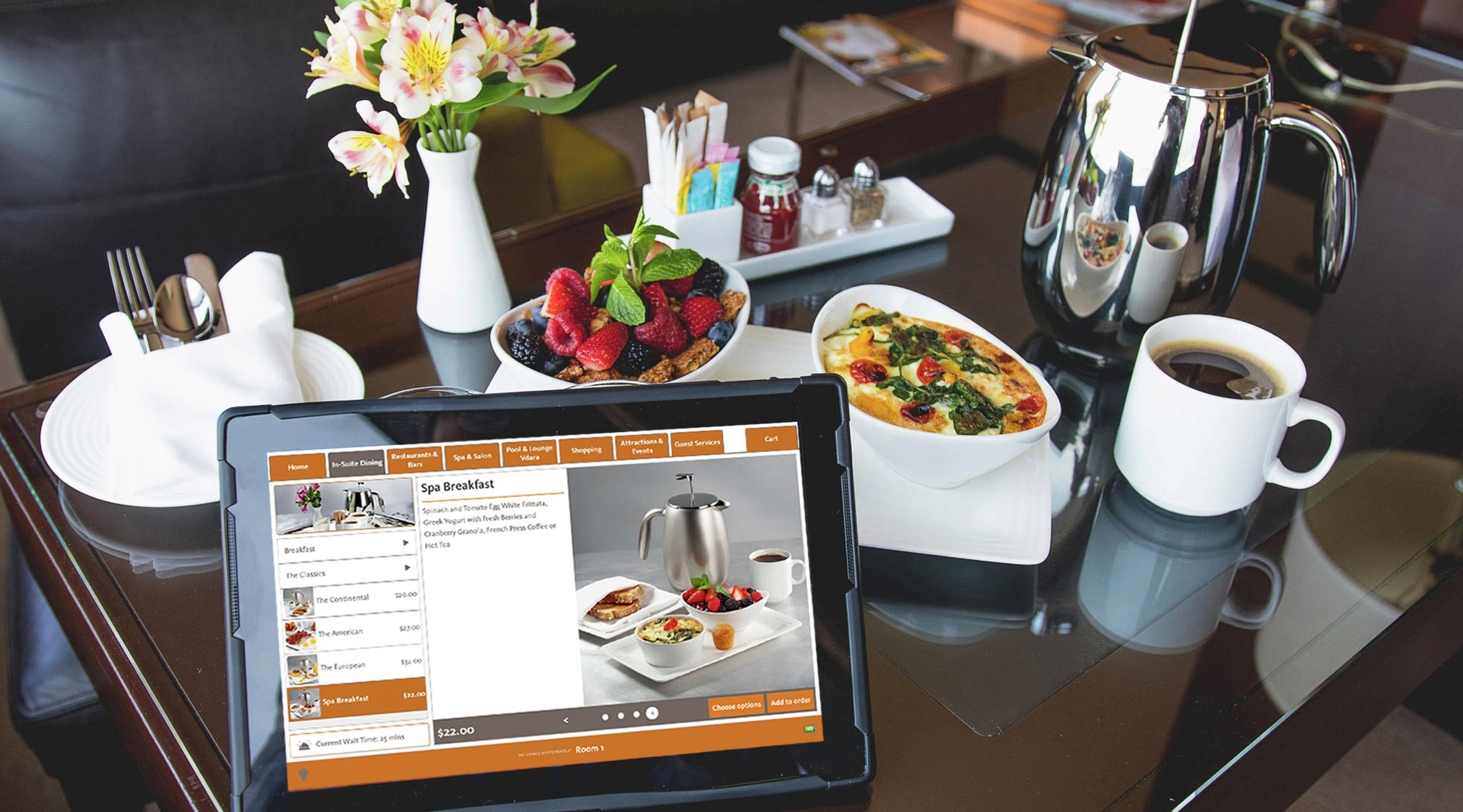 hotel room technology - in-suite tablets - vdara hotel & spa